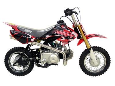 "DIR001 70cc Dirt Bike Semi Automatic Transmission, Front/Rear Drum Brakes, 10"" Wheels $399.00"
