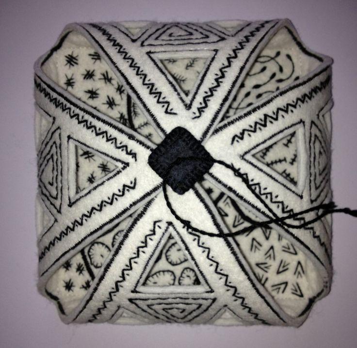 Zentangle inspired casket embroidery pinterest