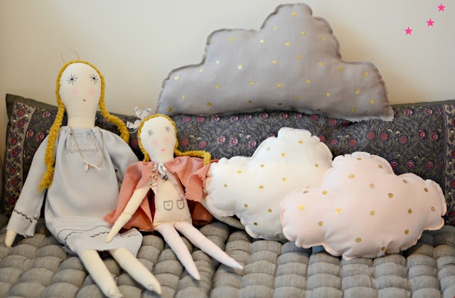 minina loves: Cloud Cushions, Rag Dolls, Future Project, Minina, Diy Minimal, Kids Toys