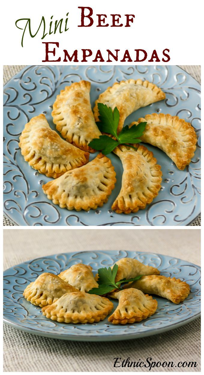 Baked mini beef empanadas recipe...perfect finger food for tailgate season!   ethnicspoon.com
