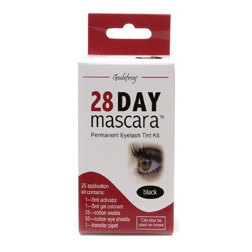 Godefroy 28 Day Mascara Permanent Eyelash Tint Kit, Black - 1 kit