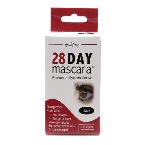 Godefroy 28 Day Mascara Permanent Eyelash Tint Kit, Black - 1 kit