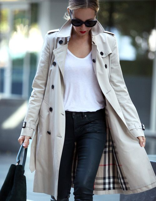 Burberry, white t and jeans