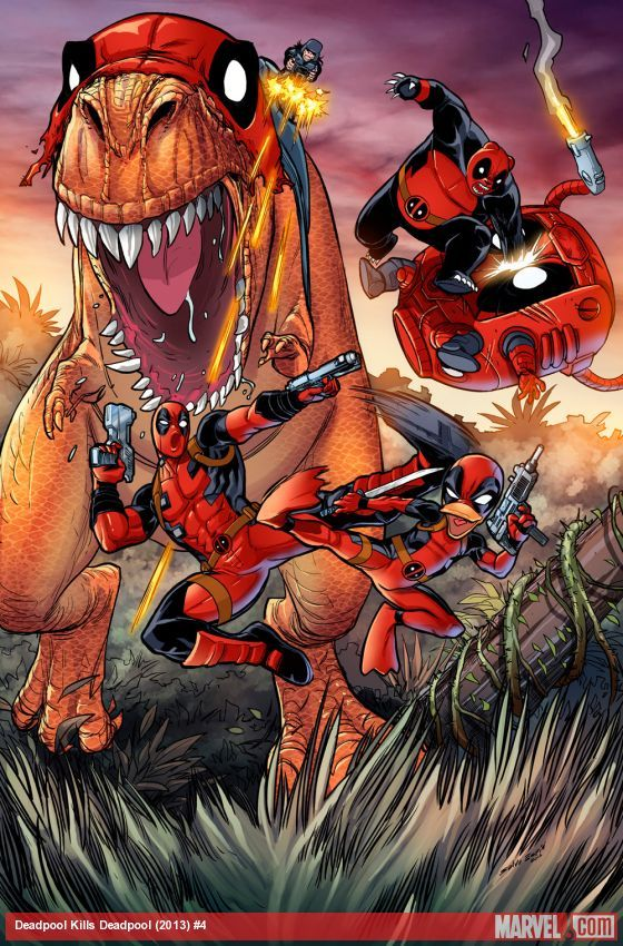 Deadpool Kills Deadpool #4 by Salva Espin