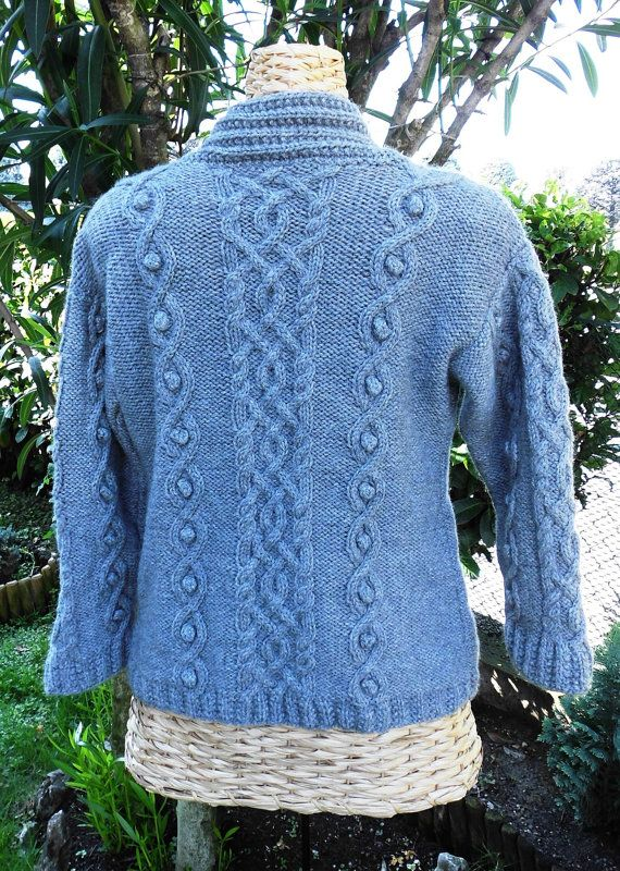 Woman pullover with cables by Stefily on Etsy