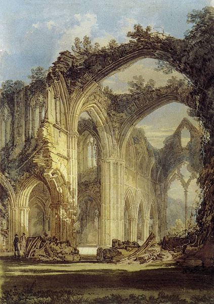 Turner, 'The Chancel and Crossing of Tintern Abbey, Looking towards the East Window', 1794.