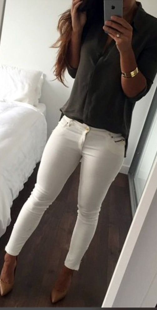 Best 25  White jeans outfit ideas on Pinterest