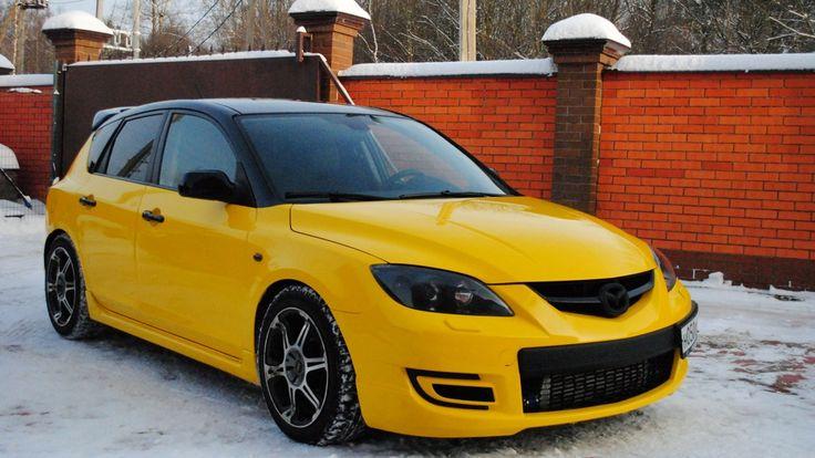 Yellow Mazda 3 MPS