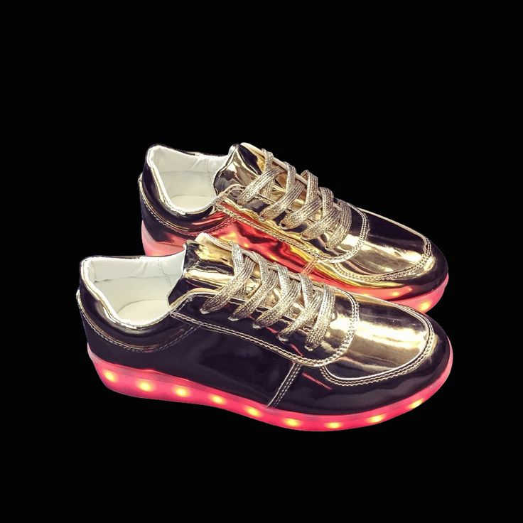 >> Click to Buy << LED lights shoes for adults USB charging colorful lights up shoe couple luminous shoes bright gold silver Drop shipping #Affiliate