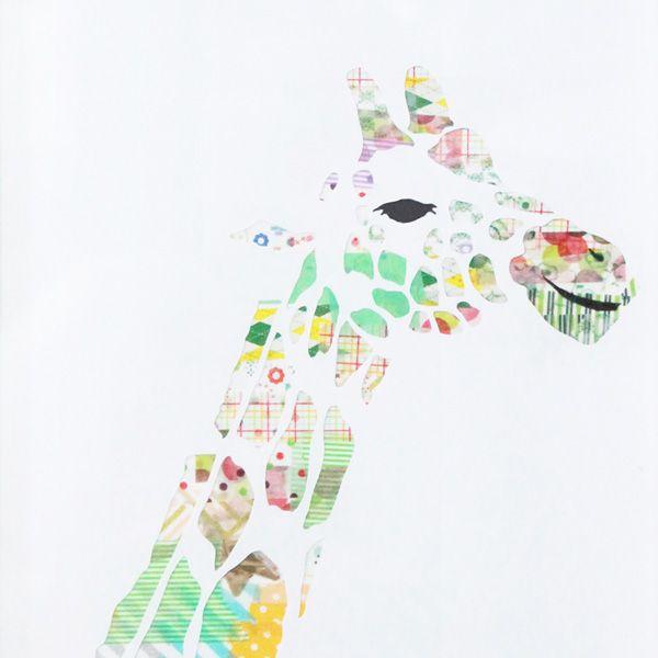 washi tape wall art giraffe :) mt school九州 大分教室ワークショップ