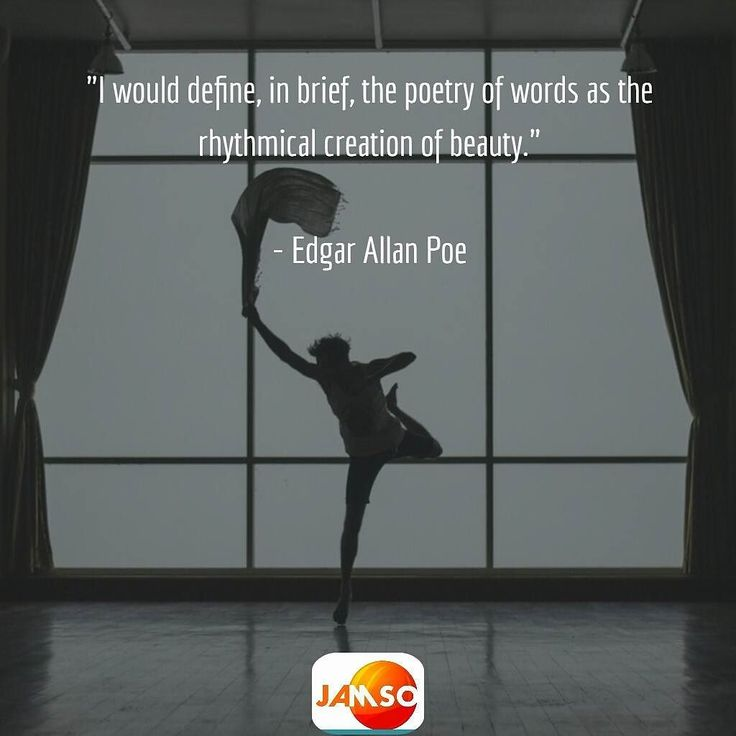 """""""I would define in brief the poetry of words as the rhythmical creation of beauty.""""  - Edgar Allan Poe   So elegantly put. This quote applies also to life. So let it also read  """"I would define in brief the poetry of LIFE as the rhythmical creation of beauty.""""  Do you agree?"""