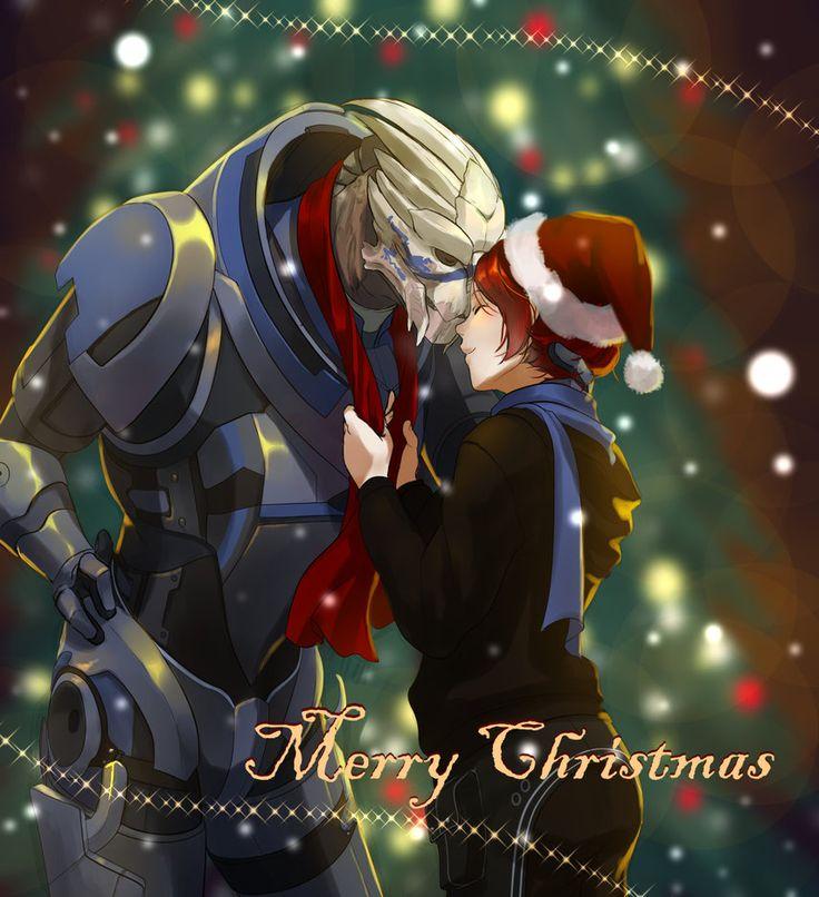 Mass Effect Christmas by kotorikurama on DeviantArt