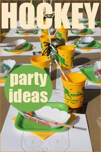 Hockey Party.  Throwing a sports party?  Great tips and tricks to help you celebrate a birthday or team gathering.
