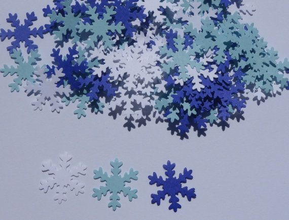 Mini Snowflake Die Cut Confetti Holiday by AllOverCreations, $2.00