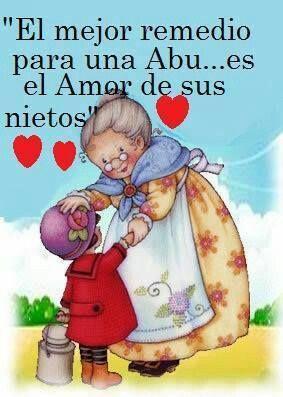 .El mejor remedio para una Abu....es el Amor de sus nietos ♥
