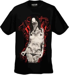 "Hustler Clothing ""Tatted Chick"" T-Shirt (Black)"