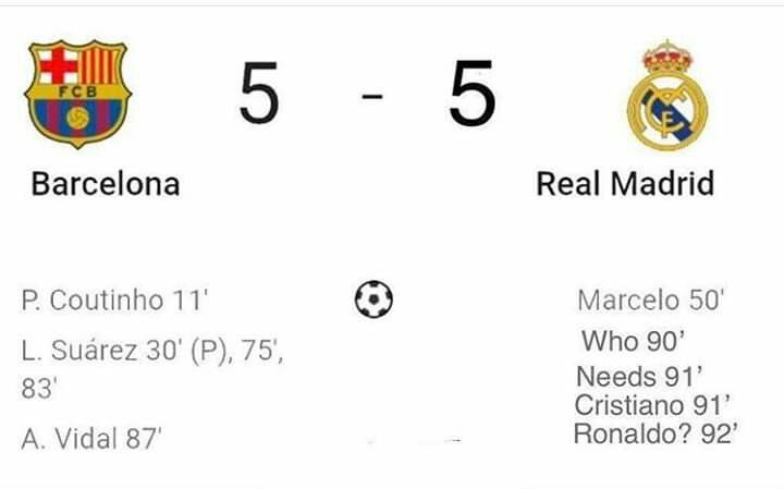 This Is What Actully Happened Real Madrid Madrid Barcelona
