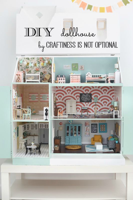 dreamy DIY dollhouse by Craftiness is Not Optional