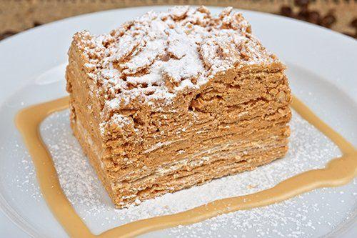 Pastel+napoleón+con+caramelo