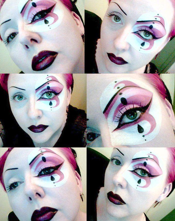 Harlequin Makeup Make Mind