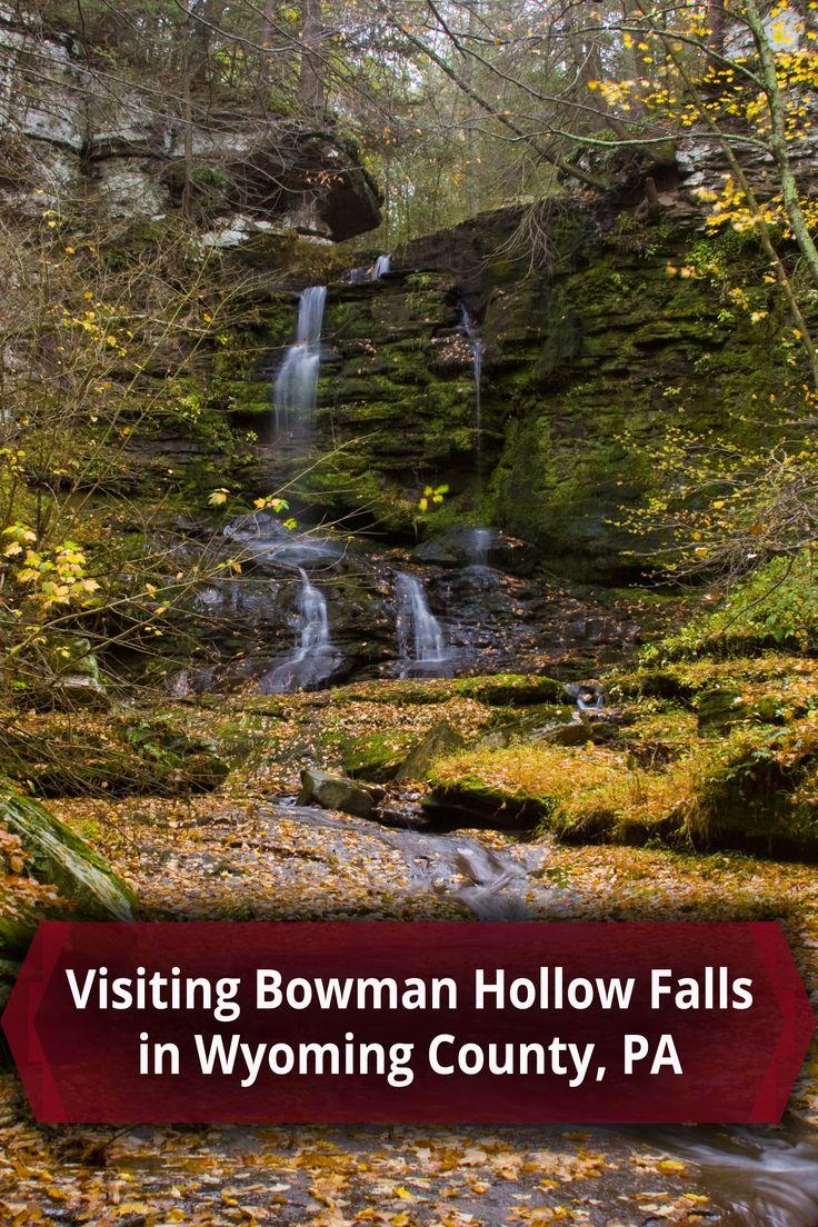 Bowman Hollow Falls in Wyoming County Pennsylvania