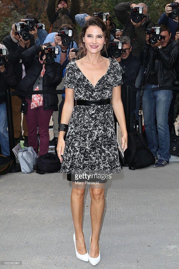 Photo d'actualité : Actress Virginie Ledoyen attends the Chanel show...