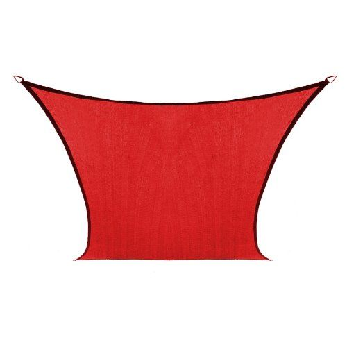 Pin it! :) Follow us :))  zPatioFurniture.com is your Patio Furniture Gallery ;) CLICK IMAGE TWICE for Pricing and Info :) SEE A LARGER SELECTION of patio awning and canopies at  http://zpatiofurniture.com/category/patio-furniture-categories/patio-canopies-awnings/  - patio,awnings,canopies, outdoor - Coolaroo Custom Square Shade Sail, Cherry Red, 9 by 9-Feet « zPatioFurniture.com
