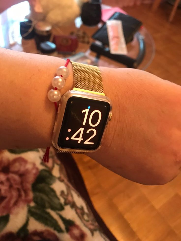 Apple watch band milanese loop gold strap sports