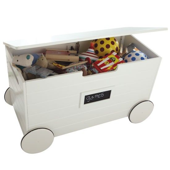 Wheeled toy box from Great Little Trading Company