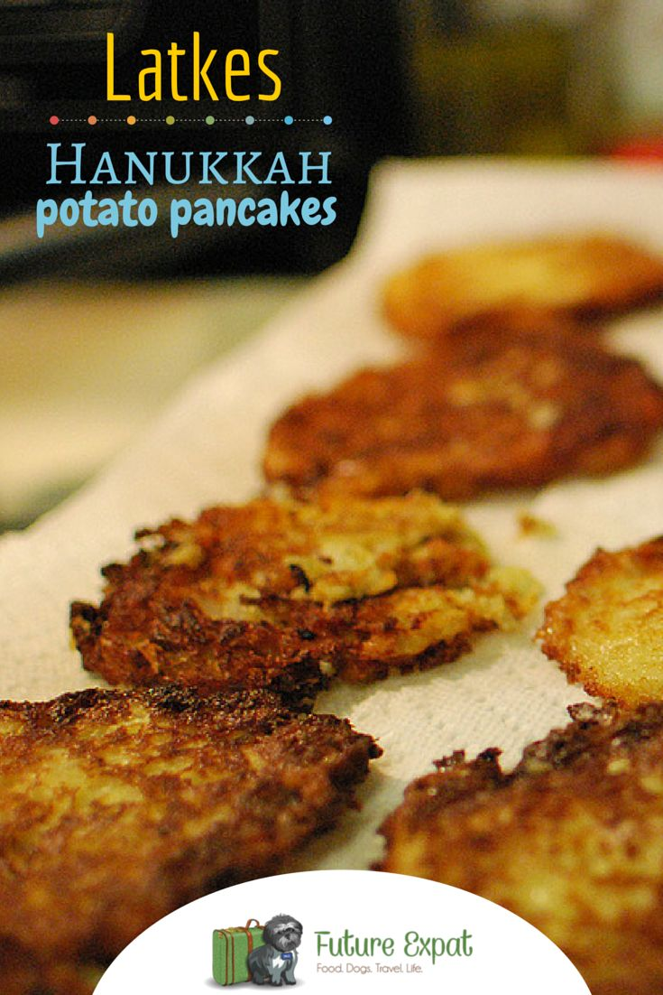 Hanukkah Latkes: Potato Pancakes Recipe | Future Expat - these potato pancakes are so easy to make and perfect for Chanukah, other Jewish holidays or as a wonderful side dish to any dinner. Traditionally latkes are served with applesauce and sour cream.
