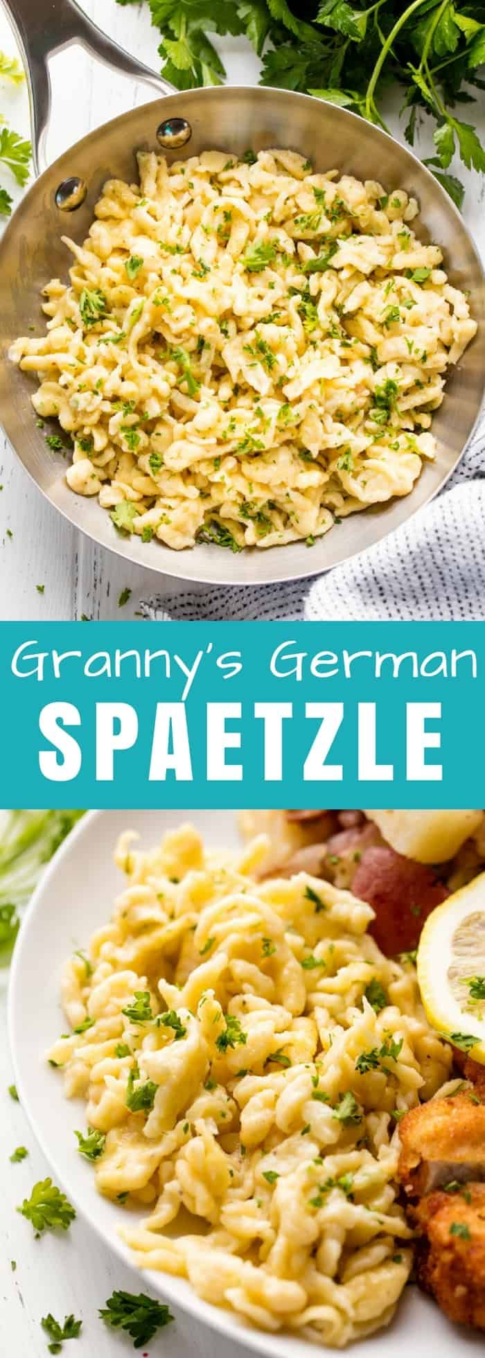 Granny's German Spaetzle is an authentic spaetzle recipe passed down in a German family for generations. Make it with or without a spaetzle maker.