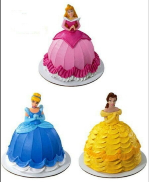 Disney Princess Cakes. I just bought a doll cake pan set ...