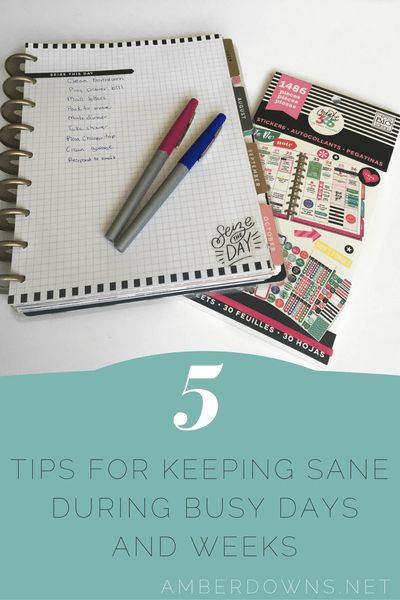 five tips for keeping sane with your planner during busy life events. Use your…