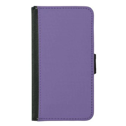 Ultra Violet Color Wallet Phone Case For Samsung Galaxy S5 - unusual diy cyo customize special gift idea personalize