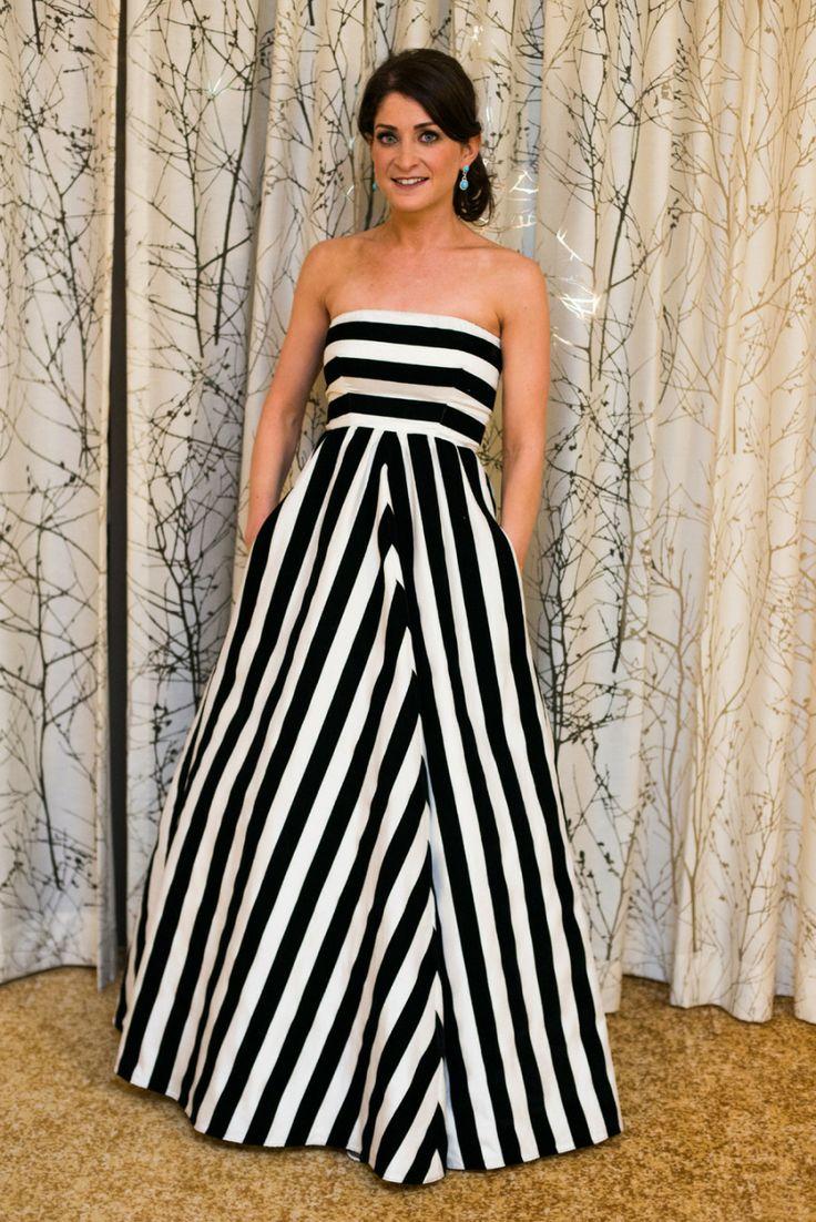 modern four seasons wedding striped wedding dressesparty