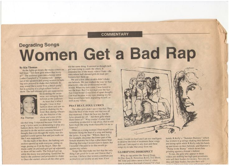hip hop degrading women essay How is hip-hop contributing to the misogyny and homophobia in our national culture how do degrading images of women affect women, girls, men and boys.