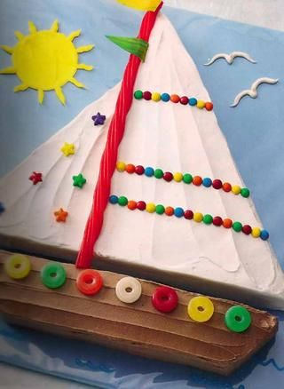 boat cake. easy-ish day