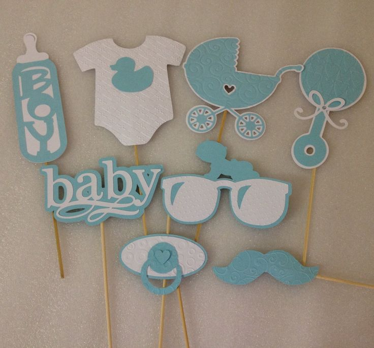 BABY PHOTOBOOTH PROPS - Set of 8 elegantly embossed baby boy photo props- baby boy shower- it's a boy by FrangipaperTree on Etsy https://www.etsy.com/listing/228225790/baby-photobooth-props-set-of-8-elegantly