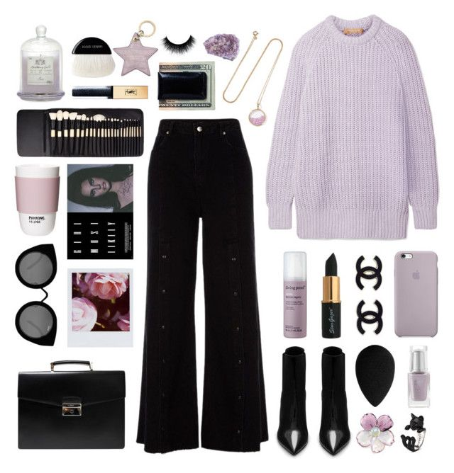 """i'm a lilac, and you are my sun"" by typicalgemini ❤ liked on Polyvore featuring Michael Kors, River Island, Yves Saint Laurent, Prada, Living Proof, beautyblender, Aurélie Bidermann, ROOM COPENHAGEN, Leighton Denny and Quay"