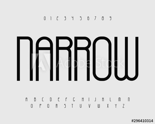 Narrow bold font with thin tall letters. Купить этот