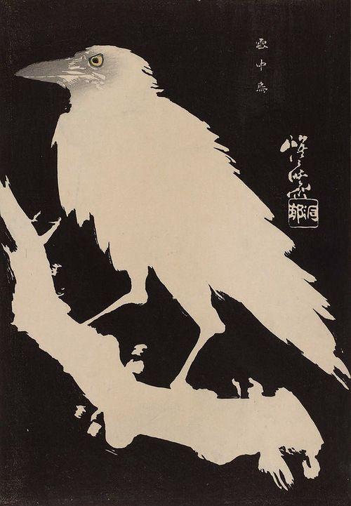 Kawanabe Kyosai, Crow in Snow, 19th century
