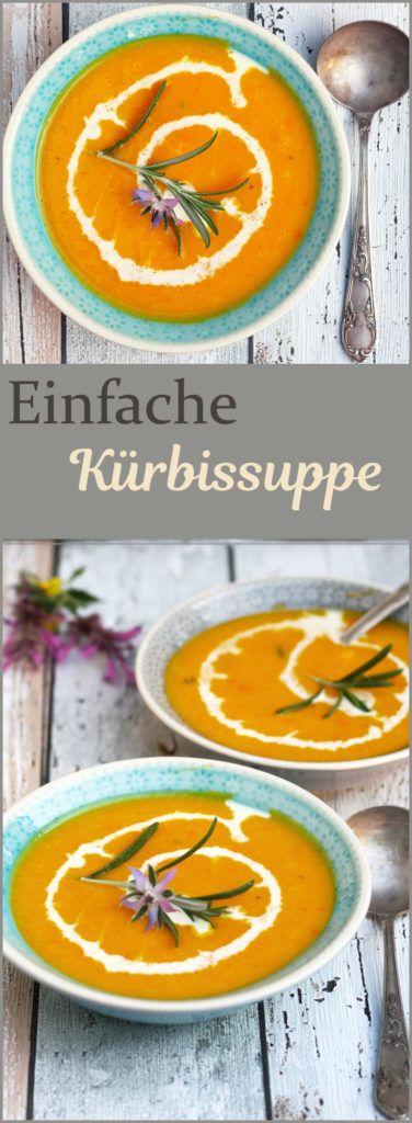 Einfaches Rezept für Kürbissuppe aus Hokkaidokürbis