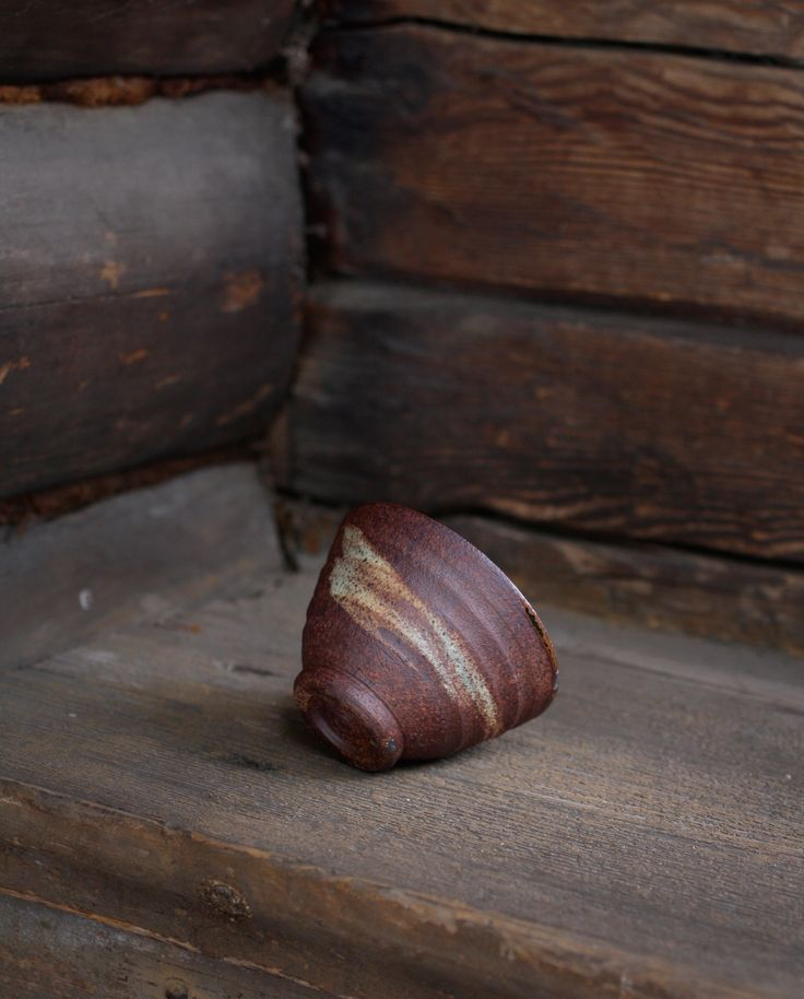 Hakeme slip on iron rich clay body. Yunomi by Jyrki repo Ceramics.