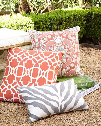 St.+Bart\'s+Outdoor+Pillows+by+Elaine+Smith+at+Horchow.
