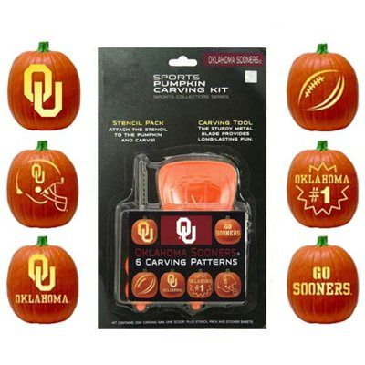 Oklahoma Sooners Pumpkin Carving Kit! @Oklahoma Sooners @University of Oklahoma #boomersooner #sooners #OU #halloween