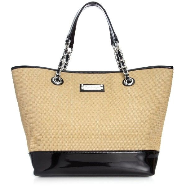 Calvin Klein Handbag, St Tropez Large Straw Tote found on Polyvore
