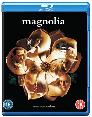 Magnolia. 1999 American drama film written, produced, and directed by Paul Thomas Anderson and starring Jeremy Blackman, Tom Cruise, Melinda Dillon, Philip Baker Hall, Philip Seymour Hoffman, Ricky Jay, William H. Macy, Alfred Molina, Julianne Moore, John C. Reilly, Jason Robards, and Melora Walters. The film is a mosaic of interrelated characters in search of happiness, forgiveness, and meaning in the San Fernando Valley.