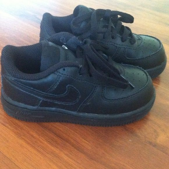 Nike Air Force ones Black toddler nike air forces size 8. Brand new, never worn. nike air forces Shoes