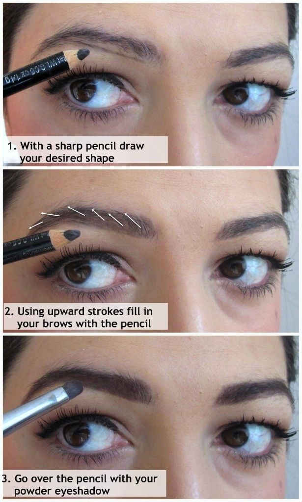 How to fill in your eyebrows - I like this technique.