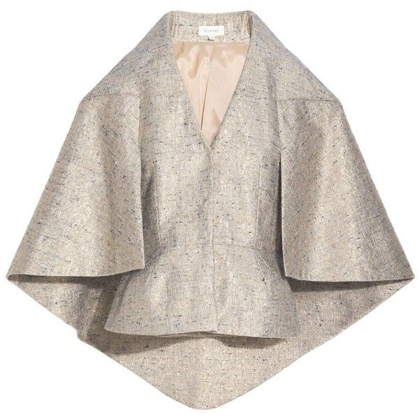 Delpozo Metallic Cape Jacket ($2,529) ❤ liked on Polyvore featuring outerwear, jackets, gold, pink jacket, cape coat, cape jacket, metallic gold jacket and peplum jackets